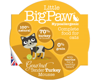 Gourmet Tender Turkey Mousse For Cats (85g)