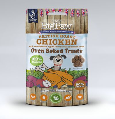 British Roast Chicken Oven Baked Treats for Dogs 9 x 130g