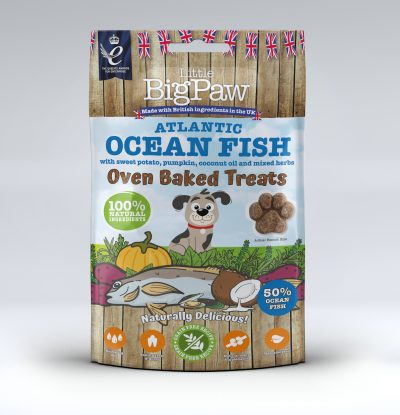 Oven Baked Atlantic Ocean Fish Treats for Dogs 9 x 130g