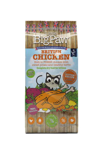 British Chicken Complete Dry Food for Kittens 1.5kg