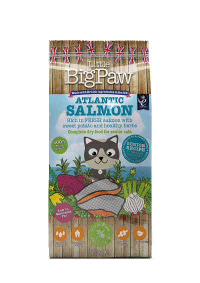 Atlantic Salmon Complete Dry Food for Senior Cats 1.5kg