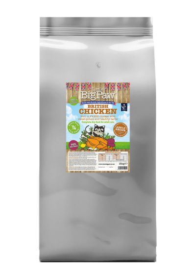 British Chicken Complete Dry Food for Adult Cats 15kg