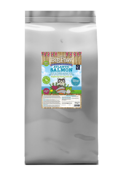 Atlantic Salmon Complete Dry Food for Senior Cats 15kg
