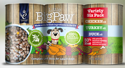 Little BigPaw Variety Tins 6x390g X4 (24 Assorted Flavours)