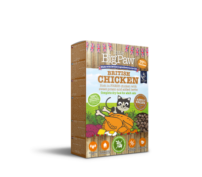 British Chicken Complete dry food for Adult Cats 375g