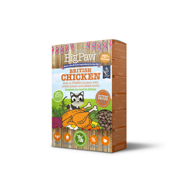 British Chicken Complete dry food for Kittens 375g