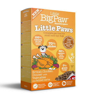 Little Paws British Chicken Complete dry food for Small Dogs 800g